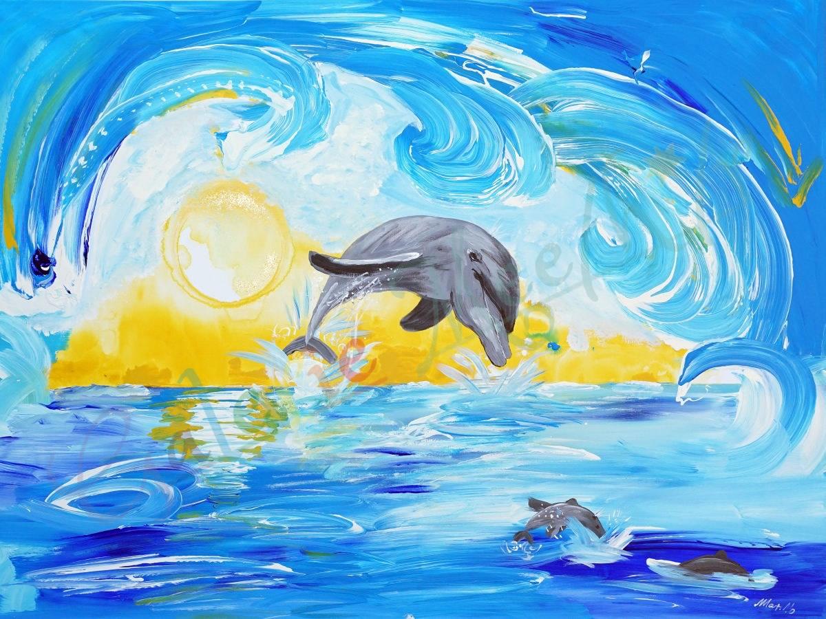 Delphin 120cm x 90 cm