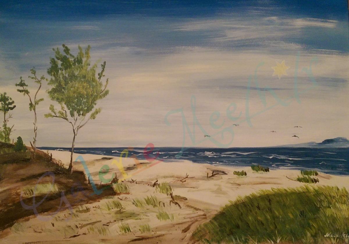 Strand Usedom 80cm x 90cm
