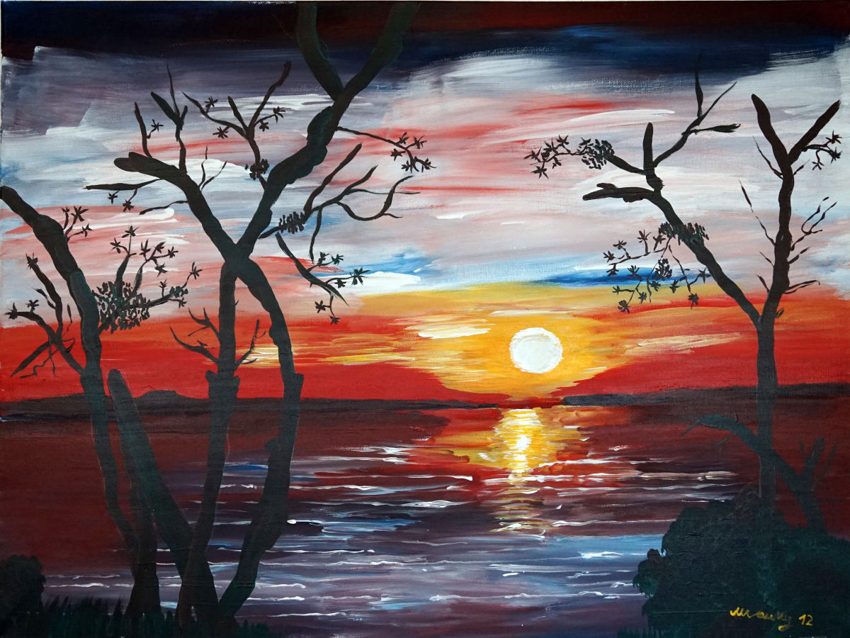 Sonnenuntergang 120cm x 90cm