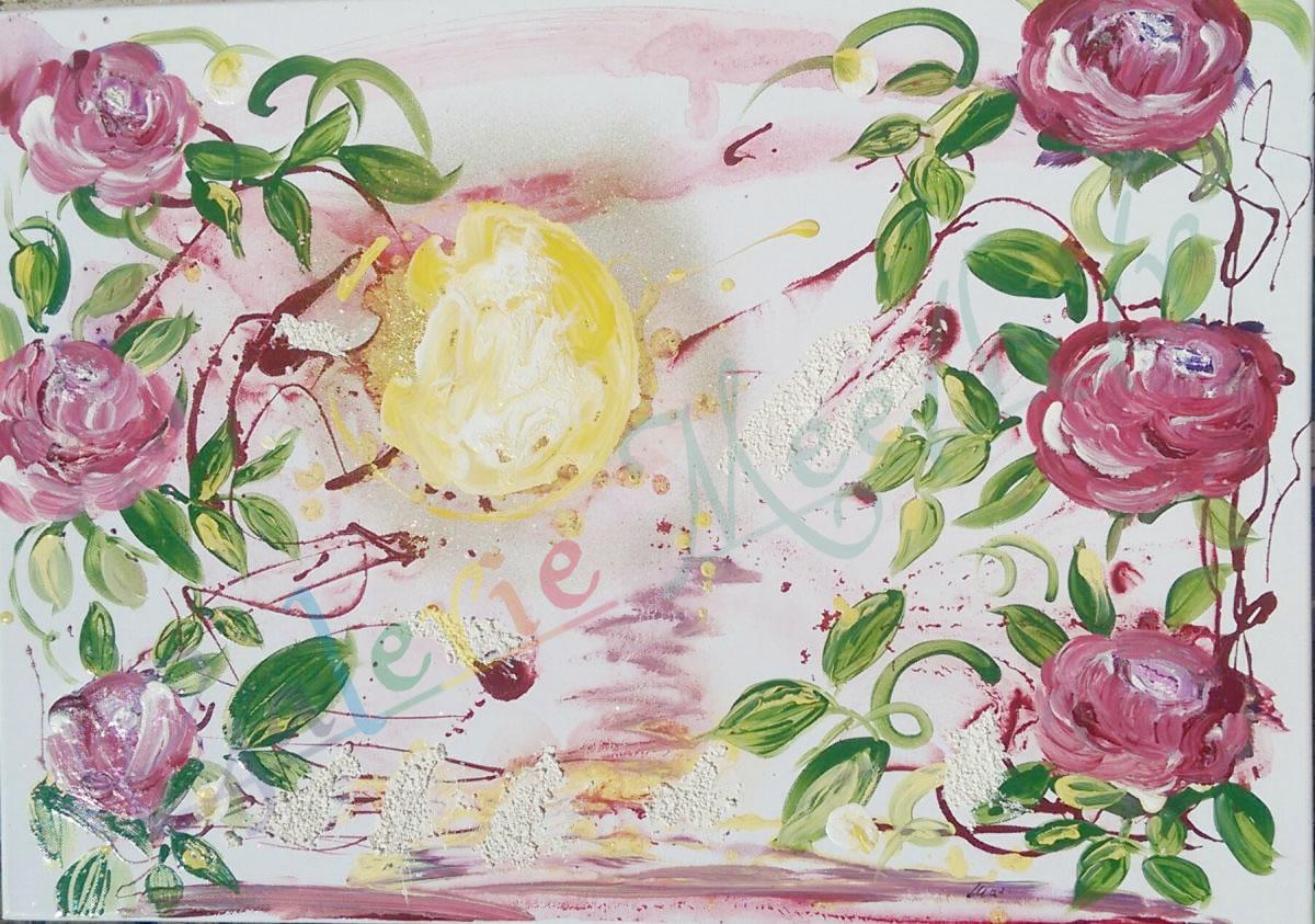 Rosen in der Sonne 70cm x 50xm