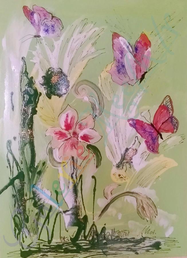 Schmetterlinge im Freien 70cm x 50cm